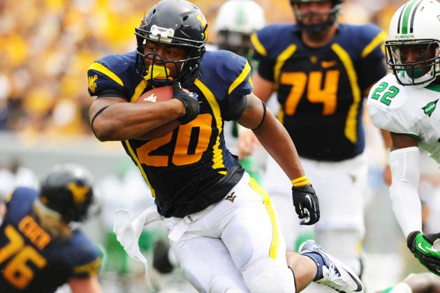 WVU Will Be Without RB Against Texas