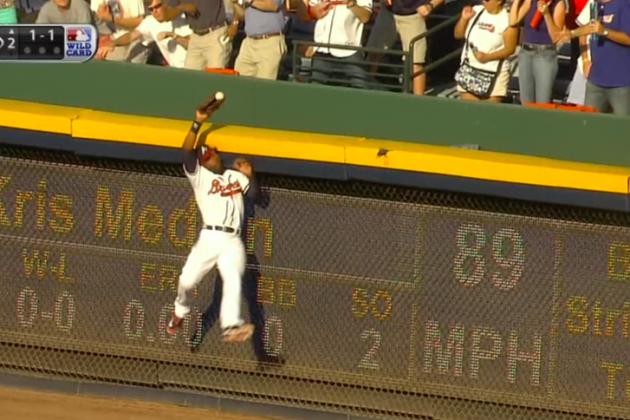 Cardinals vs. Braves: Jason Heyward Robs Yadier Molina of a Home Run
