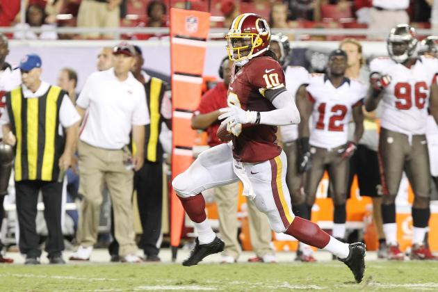 Robert Griffin III: Realistic Fantasy Projections for Redskins QB vs. Falcons