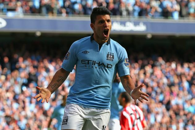 Sergio Aguero Takes His Turn to Deliver for Manchester City vs. Sunderland