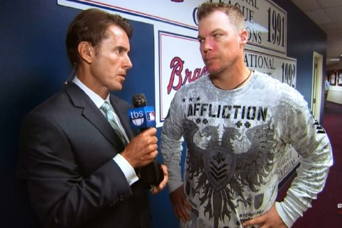 Chipper Goes with the Affliction Shirt