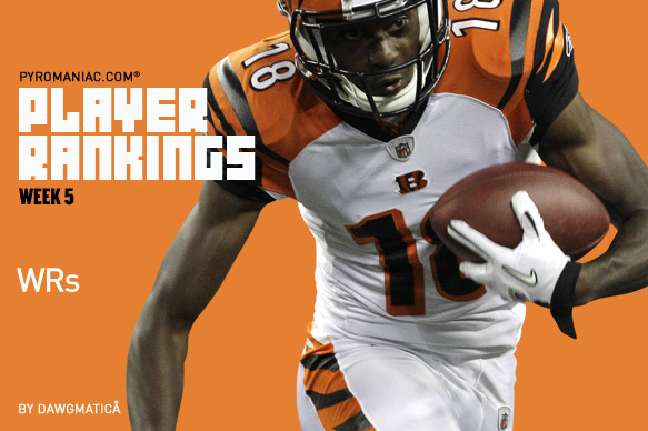 Fantasy Football Week 5: Wide Receiver Rankings No. 1-80