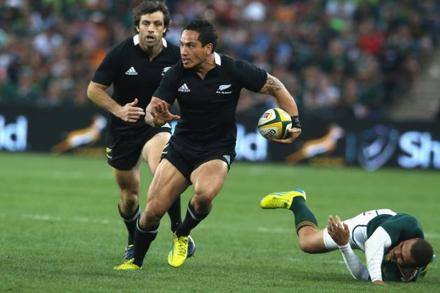 Rugby: All Blacks Too Strong for Sprinboks in Game of Two Halves