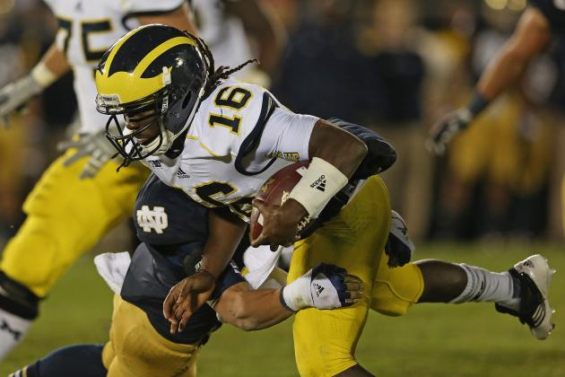 Michigan 44, Purdue 13: Denard Robinson Sets Big Ten QB Rushing Record