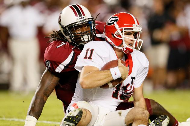 Georgia vs. South Carolina: Aaron Murray Is Far from an Elite QB