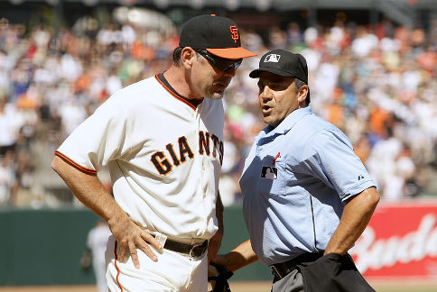 MLB Umpire Phil Cuzzi Wrongfully Taking Heat After Giants vs. Reds NLDS Game 1