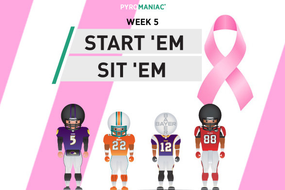 Fantasy Football 2012: Start 'em, Sit 'em for Week 5