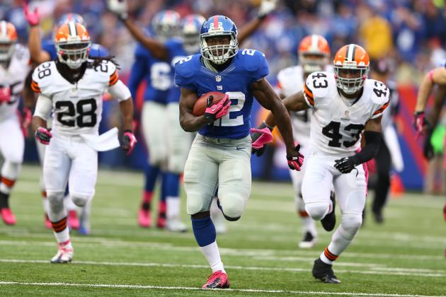 David Wilson: Giants RB Back to Fantasy Relevance After Andre Brown Injury