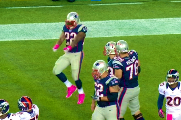 Patriots vs. Broncos: Stevan Ridley Touchdown Dances the Cabbage Patch