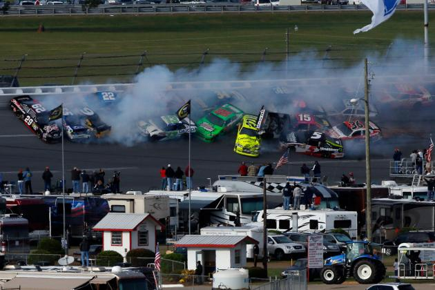 Talladega Crash: 25-Car Pileup on Final Lap Is on Tony Stewart