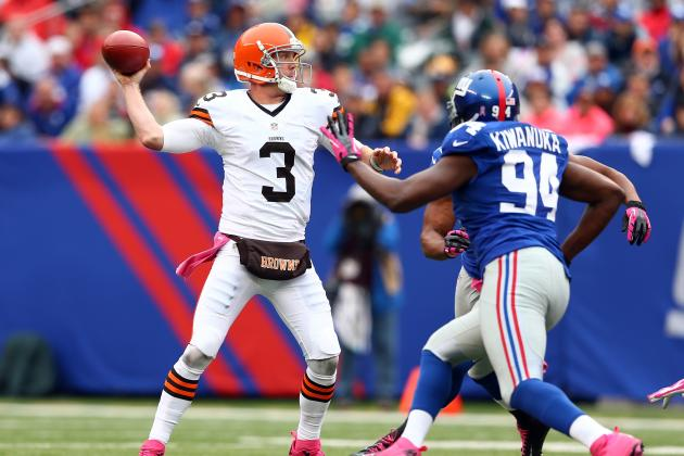 Coach Pat Shurmur Turns Up Heat on Browns Rookie QB Brandon Weeden