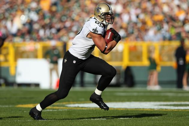 Jimmy Graham: Bye Week Comes at Perfect Time for Saints TE's Fantasy Owners