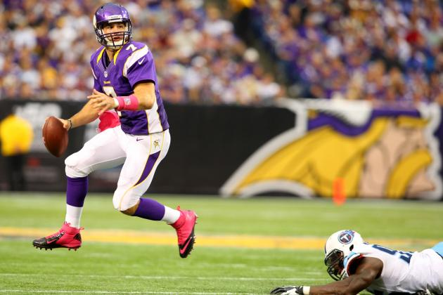 Notebook: Christian Ponder Says Swollen Knee Didn't Bother Him Much