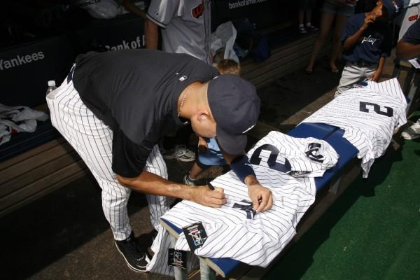 Maryland State Troopers in Yankees Dugout Asked Jeter and Swisher...