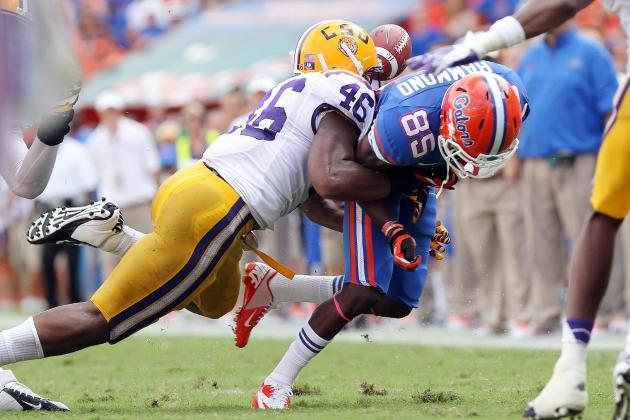LSU LB Kevin Minter Shares SEC Defensive Honor with Florida Player