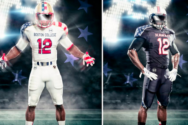 Boston College, Hawaii Unveil Tribute Jerseys