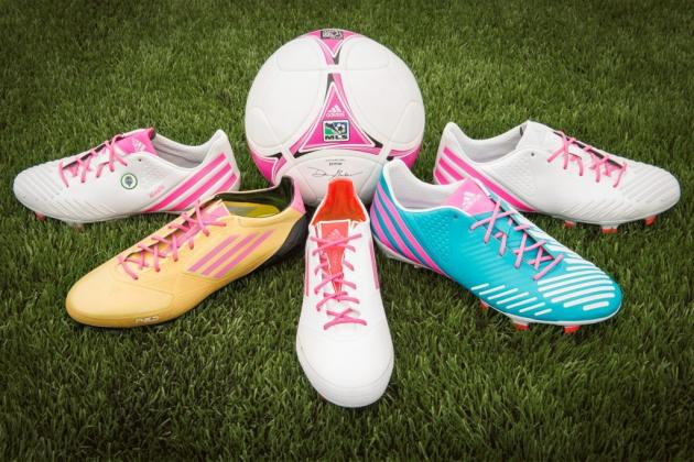 MLS Stars Design, Wear Special Adidas Cleats for Breast Cancer Awareness