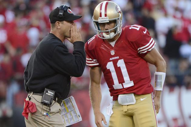 49ers' Jim Harbaugh Concerned About QB Alex Smith's Sprained Finger