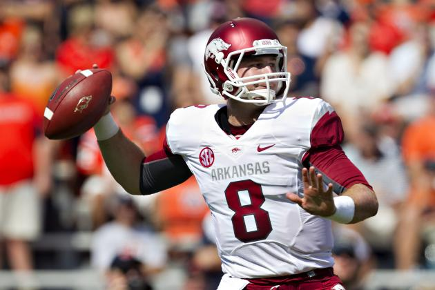 Arkansas QB Wilson Uninjured in Accident