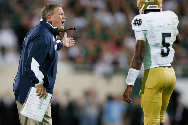 Notre Dame Football: Coach Brian Kelly Says No Internal Talk of BCS
