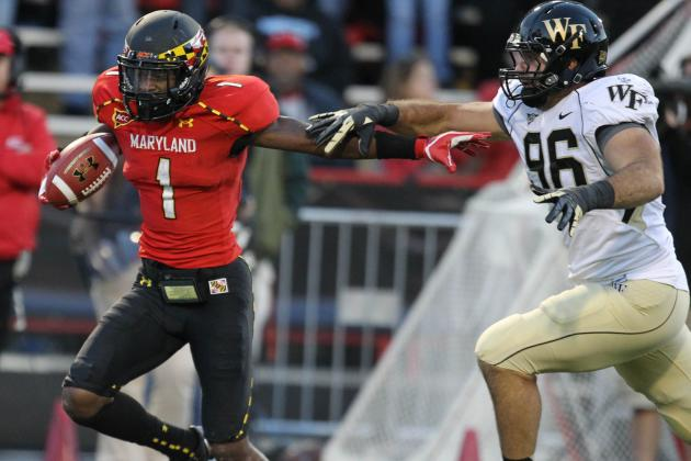 Terps' Stefon Diggs Is ACC Rookie of the Week for 2nd Time This Season