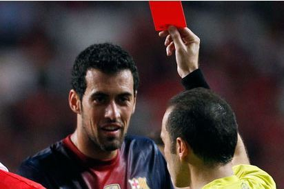 Barcelona's Sergio Busquets Gets Two-Game Uefa Ban for Benfica Tackle