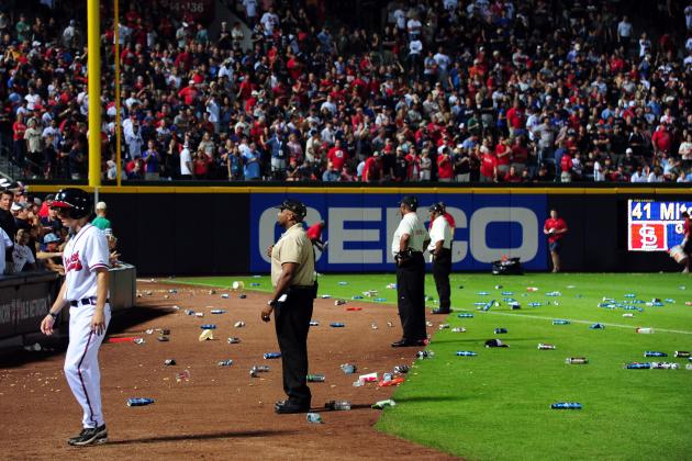 Tim Hudson Was Kinda Glad to See Braves Fans Throw Things All over the Field