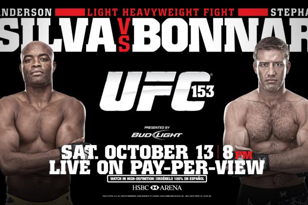 UFC 153: Fight Card, TV Info, Predictions and More for Silva vs. Bonnar