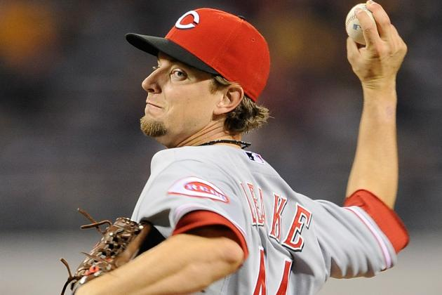 Mike Leake Starting for Reds in Game 4