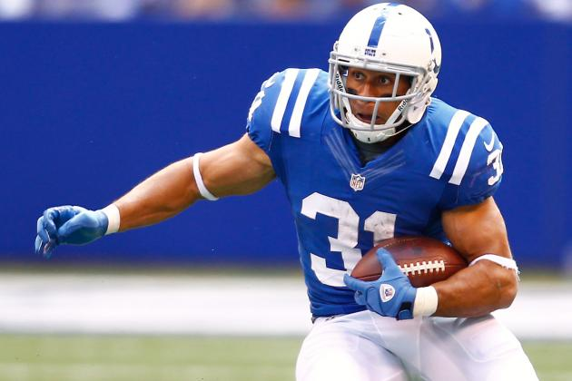 Donald Brown: Colts RB out 2 to 3 Weeks with Knee Injury