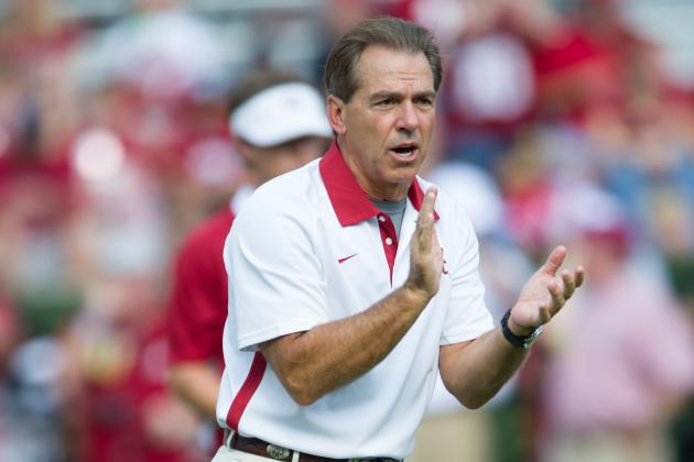 Alabama's Saban Turns Promoter for Tide's Game with Missouri