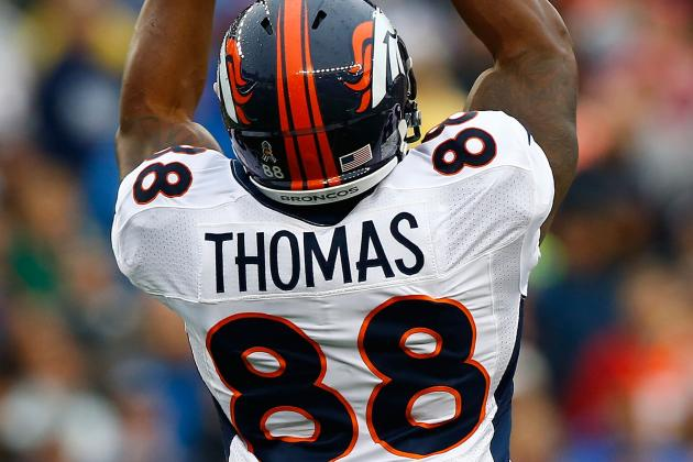 Broncos' Demaryius Thomas Shows Brilliance but Needs to Avoid Fumbles