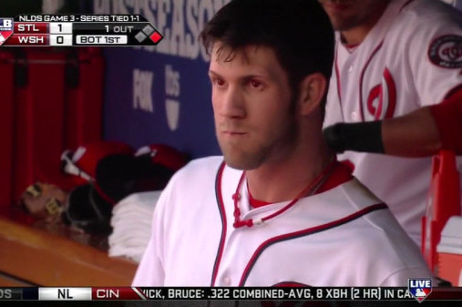 Bryce Harper Rocks Red-Eye Contacts in Nationals Game 3 vs. Cardinals