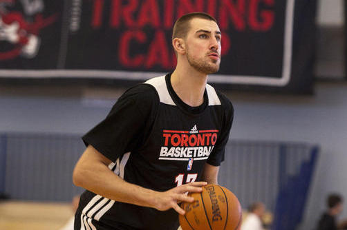 "Raptors Rookie Jonas Valanciunas Says of Debut: ""My Dream Come True"""