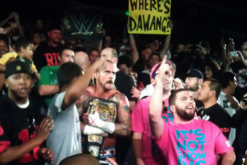 WWE's CM Punk Attacks Fanatic, Miraculously Avoids a Sacramento Riot
