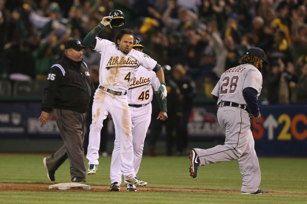 MLB Playoffs: Coco Crisp Brings Raucous Coliseum Crowd to Life, Forces Game 5