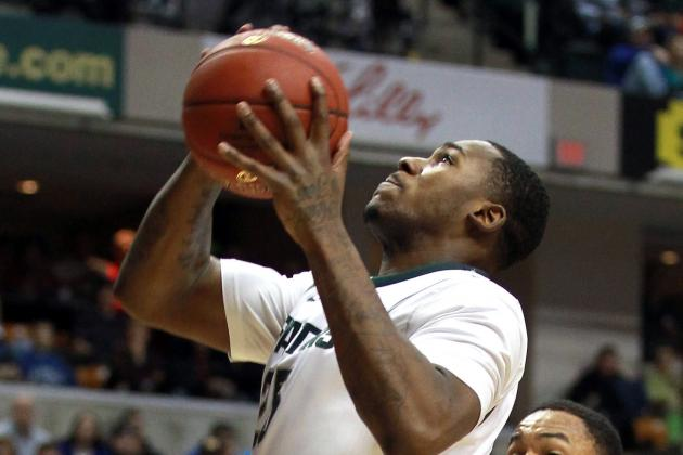 Video: Michigan State Center Derrick Nix Crowd-Surfs the Izzone