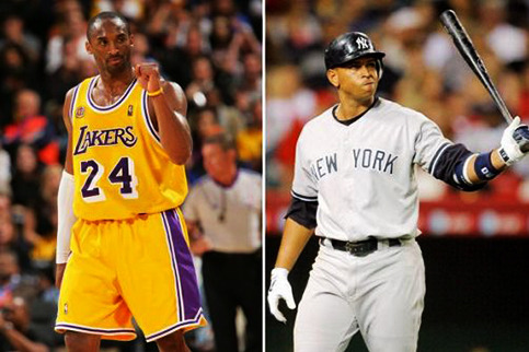 Kobe Bryant Is Obviously Irate over Alex Rodriguez Being Pulled for Raul Ibanez