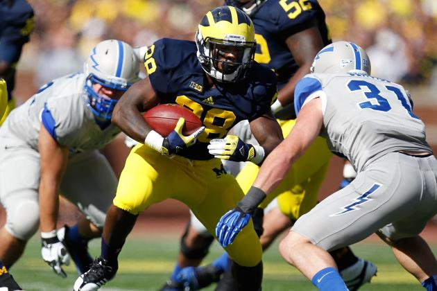 Michigan Football: Has RB Fitz Toussaint Become a Liability for Wolverines?