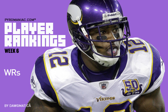 Fantasy Football Week 6: Wide Receiver Rankings No. 1-80