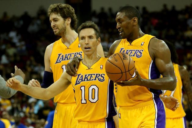Los Angeles Lakers' Metta World Peace Says Steve Nash Should Do Vegas Magic Show
