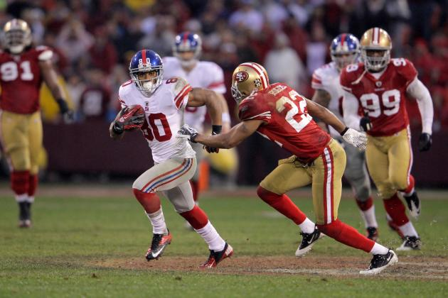 Carlos Rogers: Niners DB Promises Not to Mock Victor Cruz's Salsa Celebration