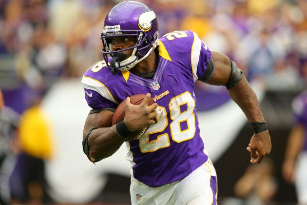Adrian Peterson Returns to FedEx Field 10 Months After Tearing ACL Here