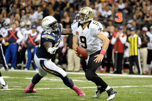 Rookie LB Melvin Ingram Fined $15,750 for Roughing Call vs. Saints