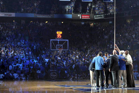 Calipari Lifts Banner, Kicks off Madness