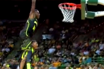 Brittney Griner Does a Near-360 Jam in Baylor's Dunk Contest