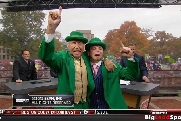 Lee Corso Dressed as Leprechaun and Did an Irish Jig [GIF]