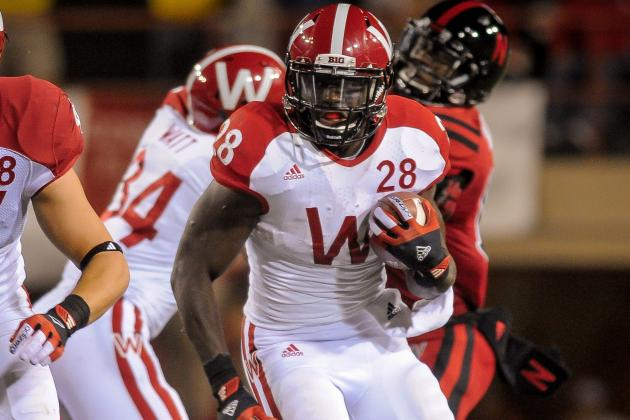 Montee Ball Sets B1G TD Mark in Badger Romp