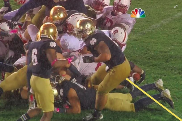 ND's Controversial Goal-Line Stand