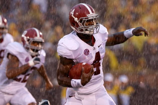 Alabama vs. Missouri: Tide's 2-Headed Monster at RB Shows They're No. 1 Duo
